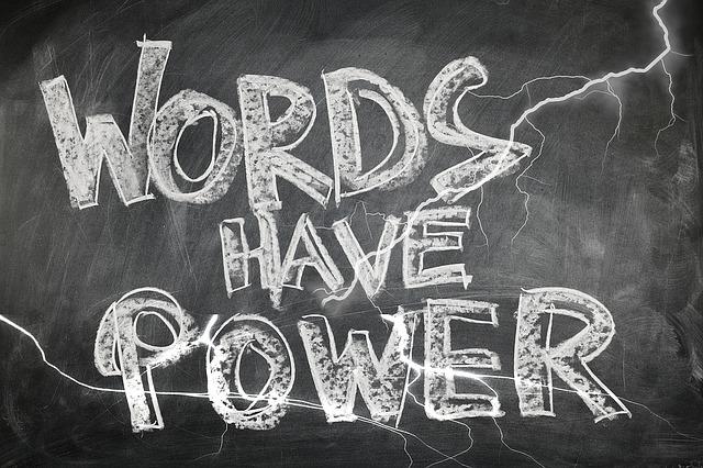 言葉の黒板文字
